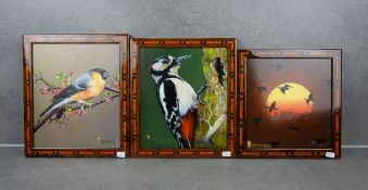 TRÜMPER, FRANZ (Gronau 1941-2021 Enschede NL) - Three paintings with bird motifs