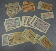 COLLECTION OF PAPER MONEY / VOUCHERS / MONEY BONDS