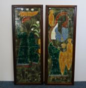 PAIR OF TILE PICTURES