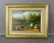 """PAINTING: """"DUCKS AT THE WATER"""""""