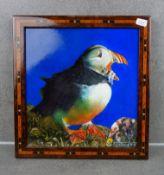 "TRÜMPER, FRANZ (Gronau 1941-2021 Enschede NL) - Painting: ""Puffin"""
