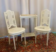 TABLE AND PAIR OF CHAIRS