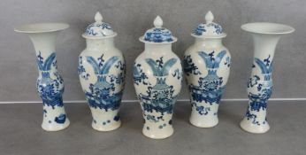SET OF 5 CHINESE VASES