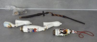 LONG PIPE WITH 3 PORCELAIN HEADS AND ACCESSORIES