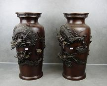 VASES WITH DRAGON MOTIVES