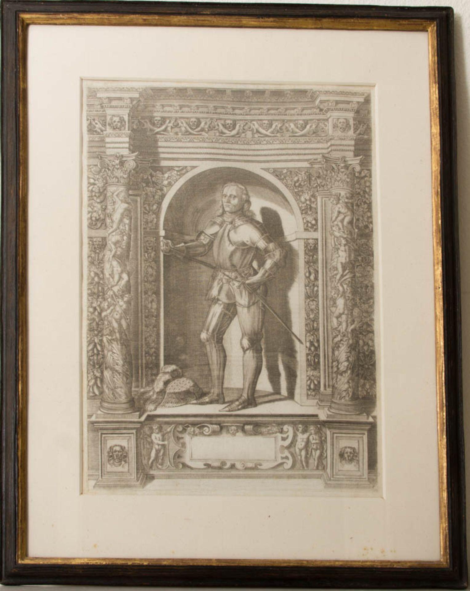 Vier Herrenportraits, Druckgrafik, 18. Jh.Teilweise rückseitig verglast und bedruckt. - Bild 5 aus 5