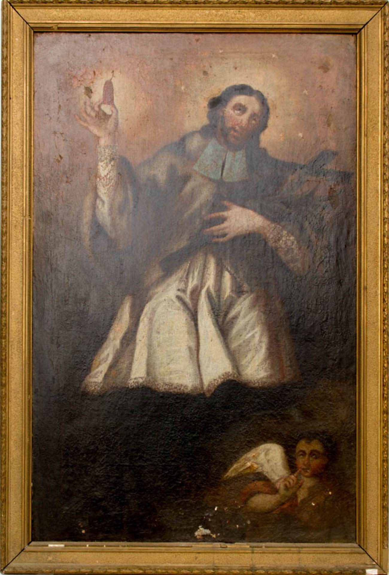 Matthäus der Evangelist, Öl auf Leinwand, 16. / 17. Jh.Dublierte Leinwand, Restaurat