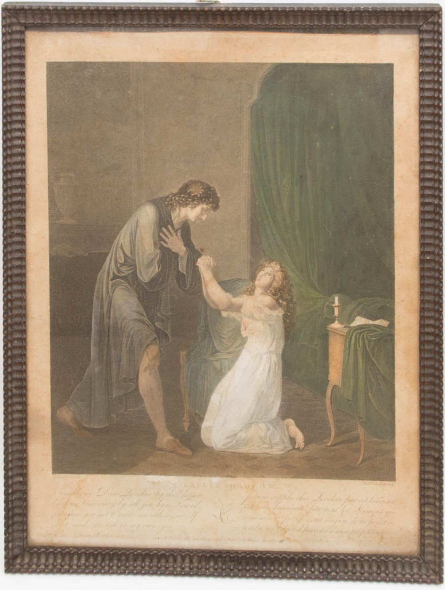 Die Leiden der Clarissa von Harlow, Druckgrafik, 19. Jh.Beide hinter Glas gerahmt, lei - Bild 5 aus 7