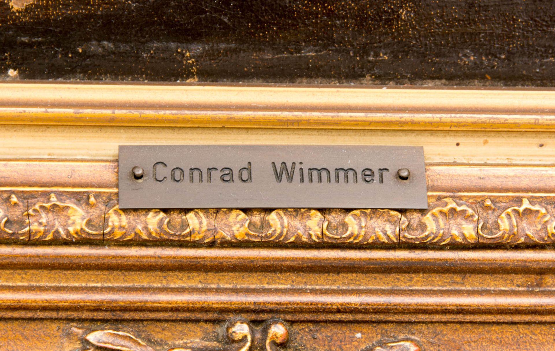 Conrad Wimmer, Landschaftsansicht mit Burg, Öl auf Leinwand, 19.Jh.Conrad Wimmer (184 - Bild 5 aus 6