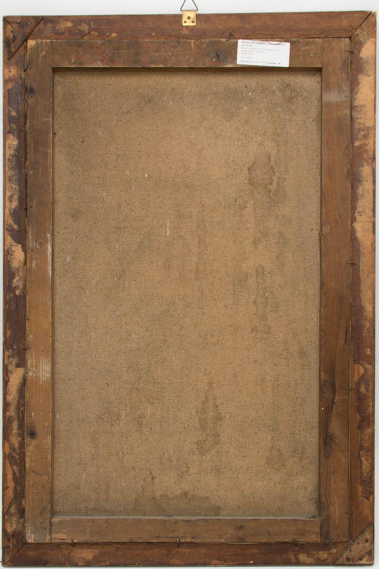 Matthäus der Evangelist, Öl auf Leinwand, 16. / 17. Jh.Dublierte Leinwand, Restaurat - Bild 5 aus 5