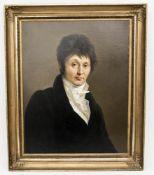Johann F. A. Tischbein, Portrait eines Herren, Öl auf Leinwand, 18. Jh.Kaufpapiere vo