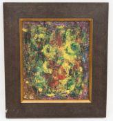Abstrakte Komposition, Mischtechnik auf Platte 21. Jh.