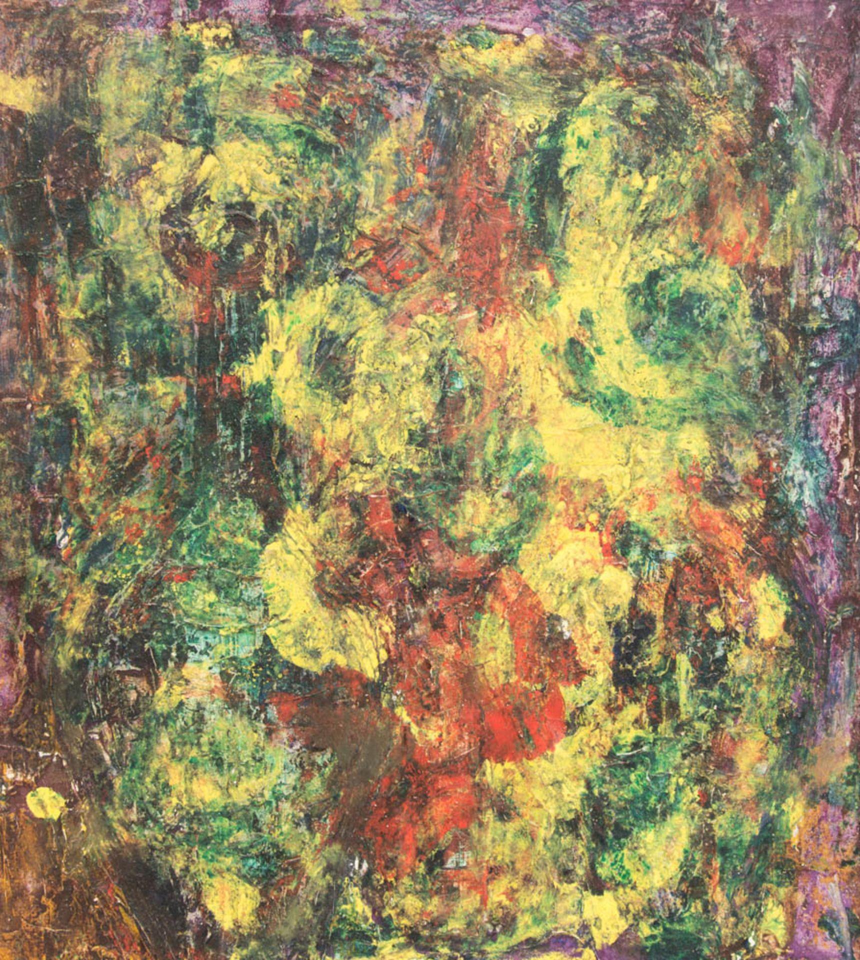 Abstrakte Komposition, Mischtechnik auf Platte 21. Jh. - Bild 3 aus 5