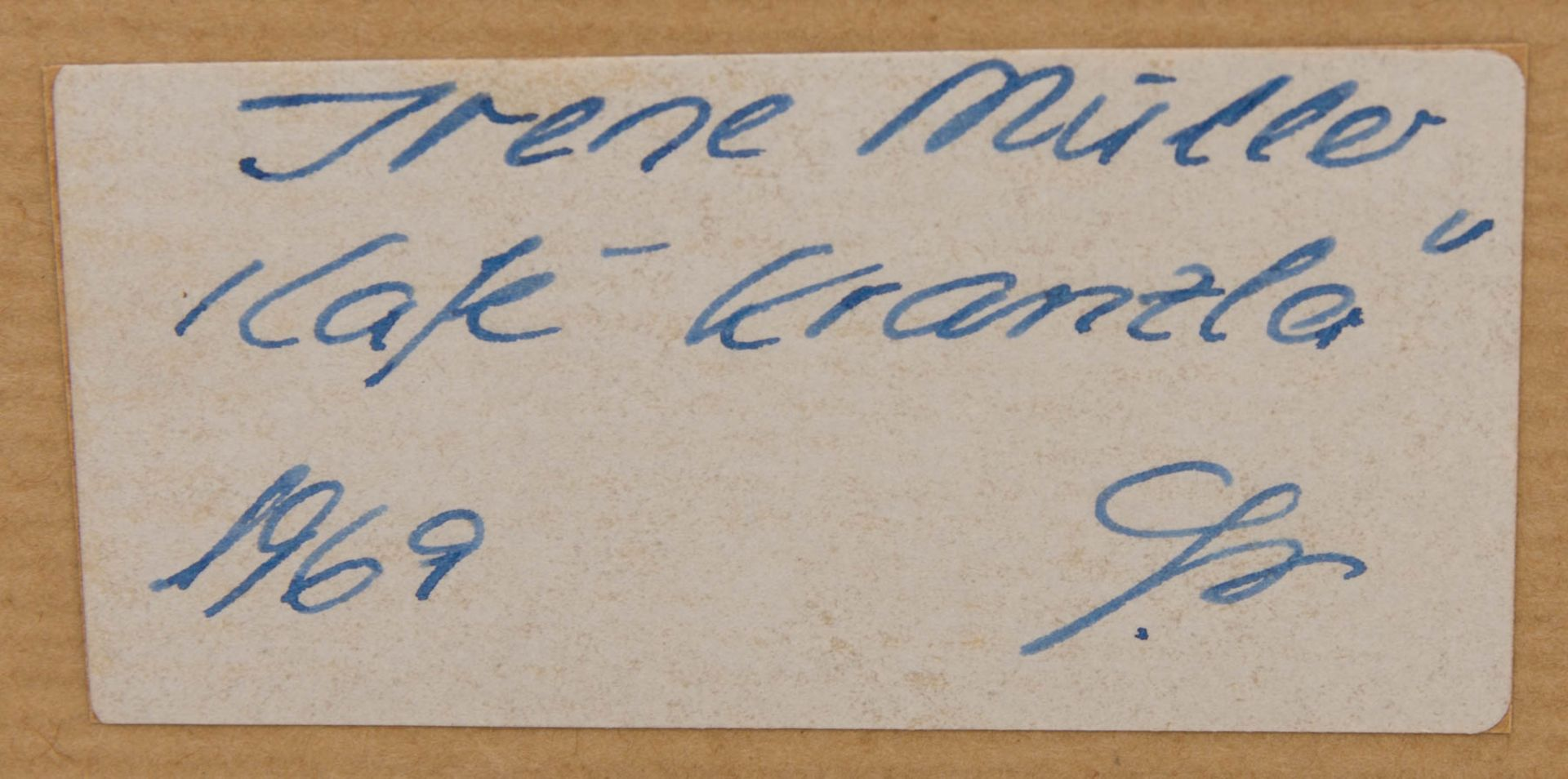 Irene Müller, Kaffeehaus Szene, Radierung, 1969.Irene Müller (1941).Unten rechts - Bild 6 aus 6