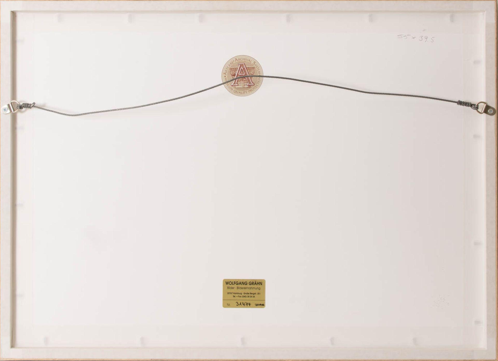 Wohl Walter Bertelsmann, Winterlandschaft, Acryl auf Platte, 20. Jh.Hinter Glas gerah - Bild 3 aus 3