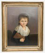 Johann F. A. Tischbein, Portrait eines Knaben, Öl auf Leinwand, 18. Jh.Gerahmt, nicht