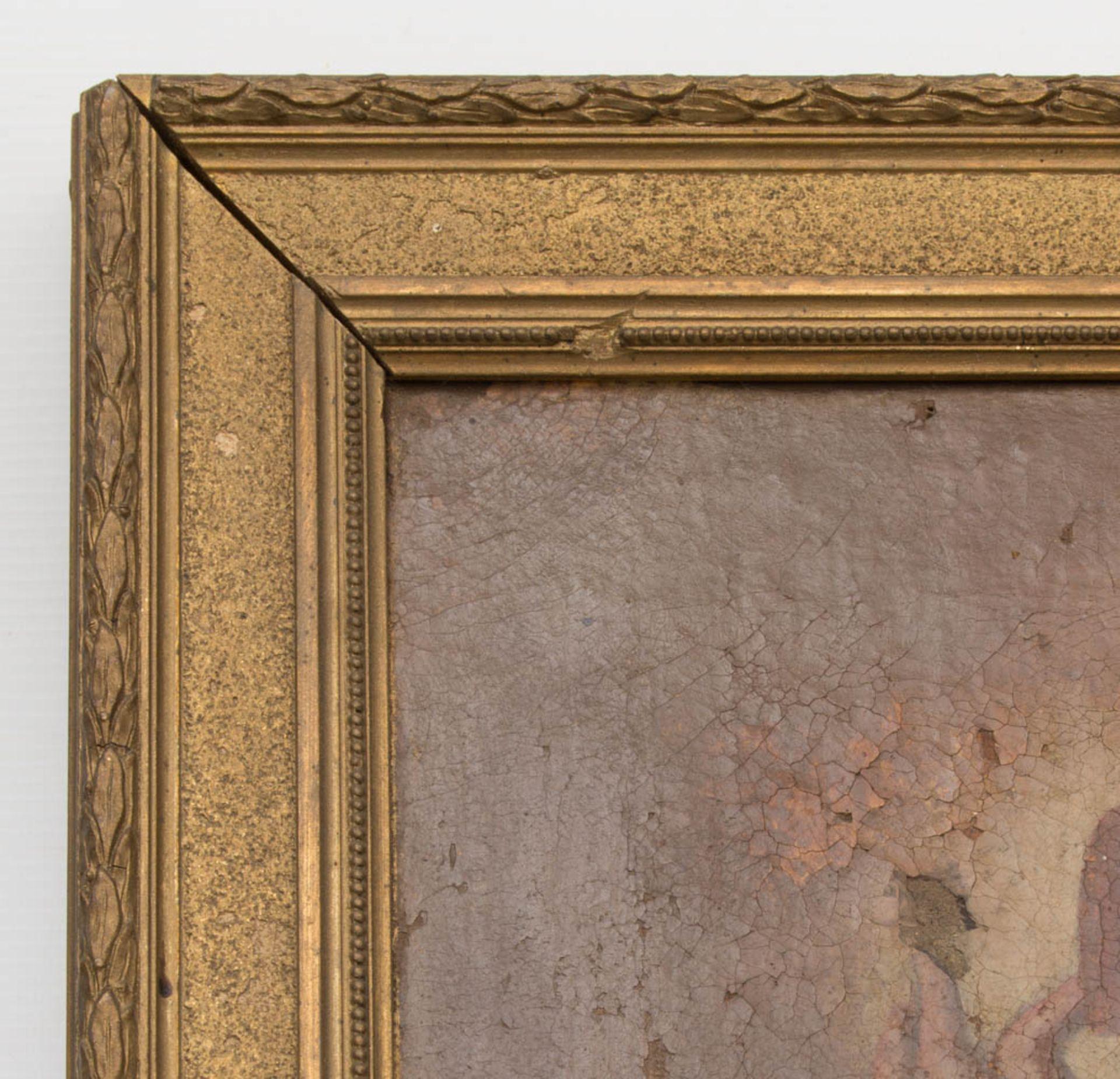 Matthäus der Evangelist, Öl auf Leinwand, 16. / 17. Jh.Dublierte Leinwand, Restaurat - Bild 2 aus 5