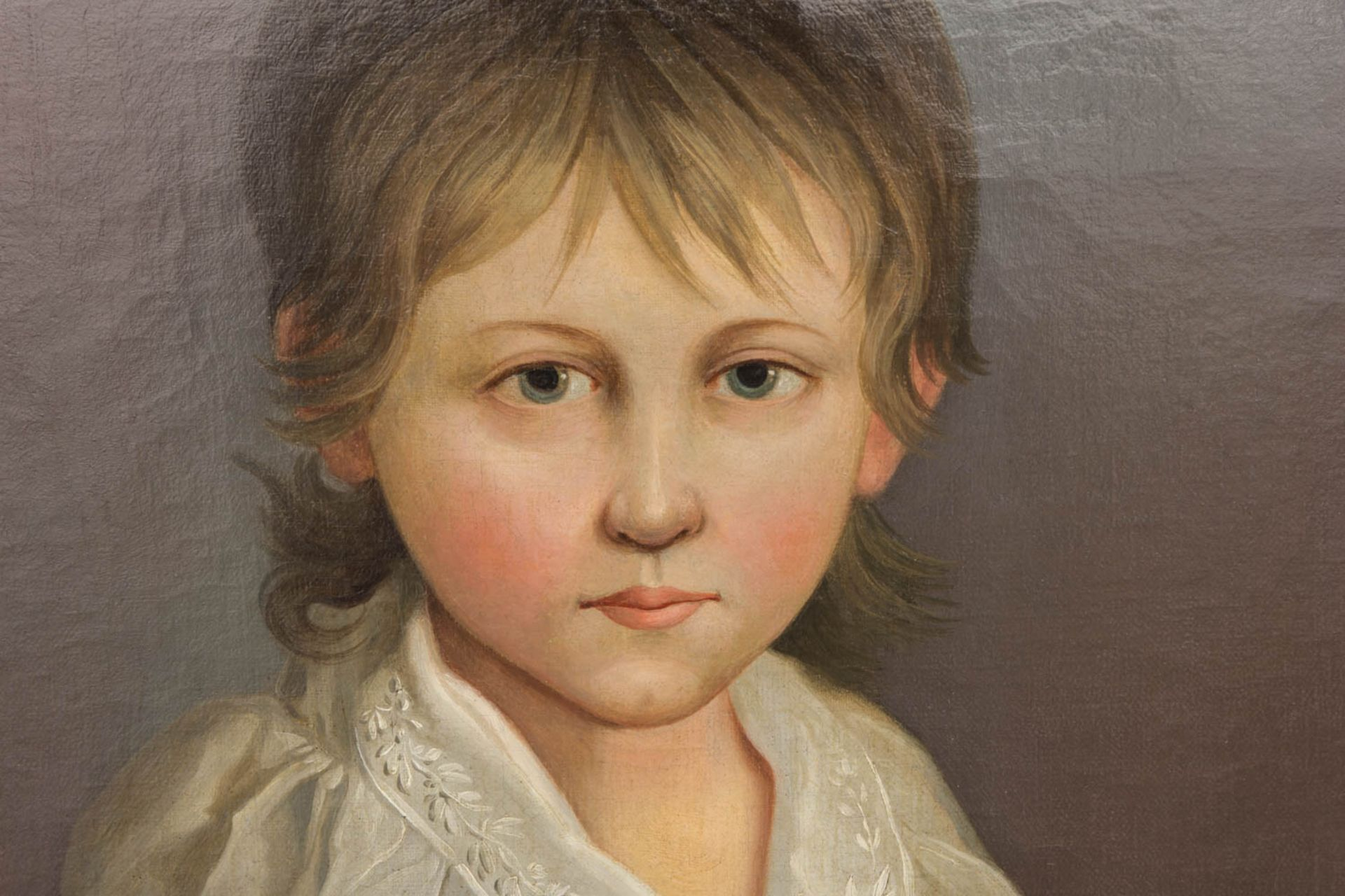 Johann F. A. Tischbein, Portrait eines Knaben, Öl auf Leinwand, 18. Jh.Gerahmt, nicht - Bild 2 aus 4