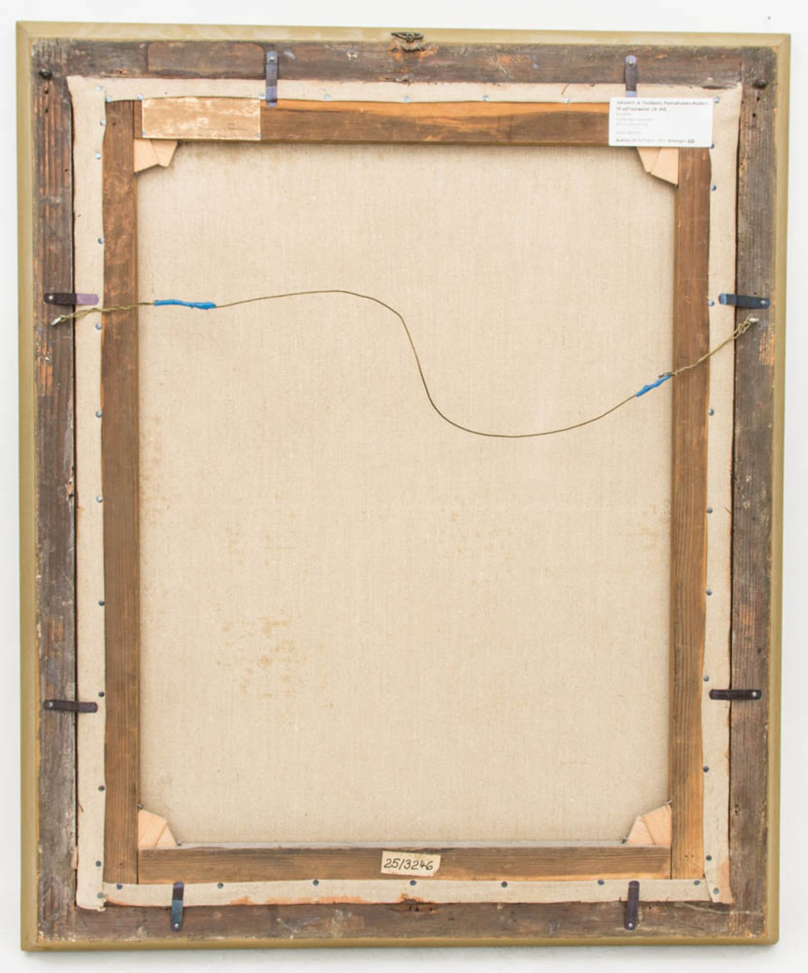 Johann F. A. Tischbein, Portrait eines Knaben, Öl auf Leinwand, 18. Jh.Gerahmt, nicht - Bild 4 aus 4