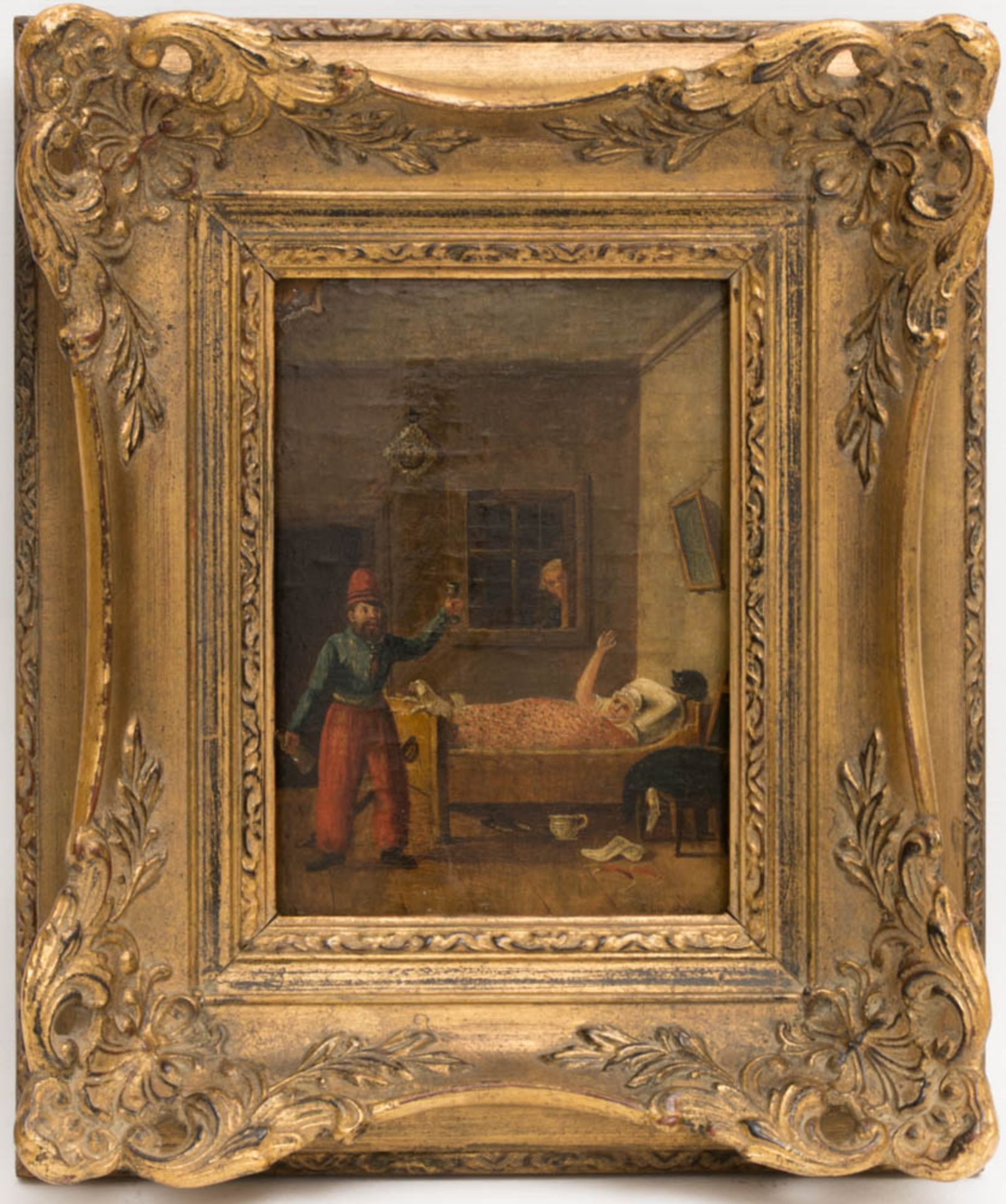 Johann Phillipp Ulbricht, Paar humorvolle Szenen, Öl auf Holz, Mitte 18. Jh. - Bild 2 aus 12
