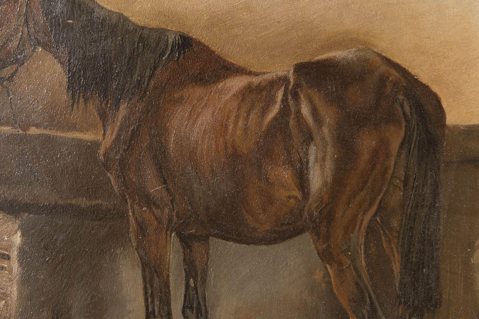 Wilhelm von Diez, Pferdestudie, Öl auf Platte, 19. Jh. - Bild 2 aus 5