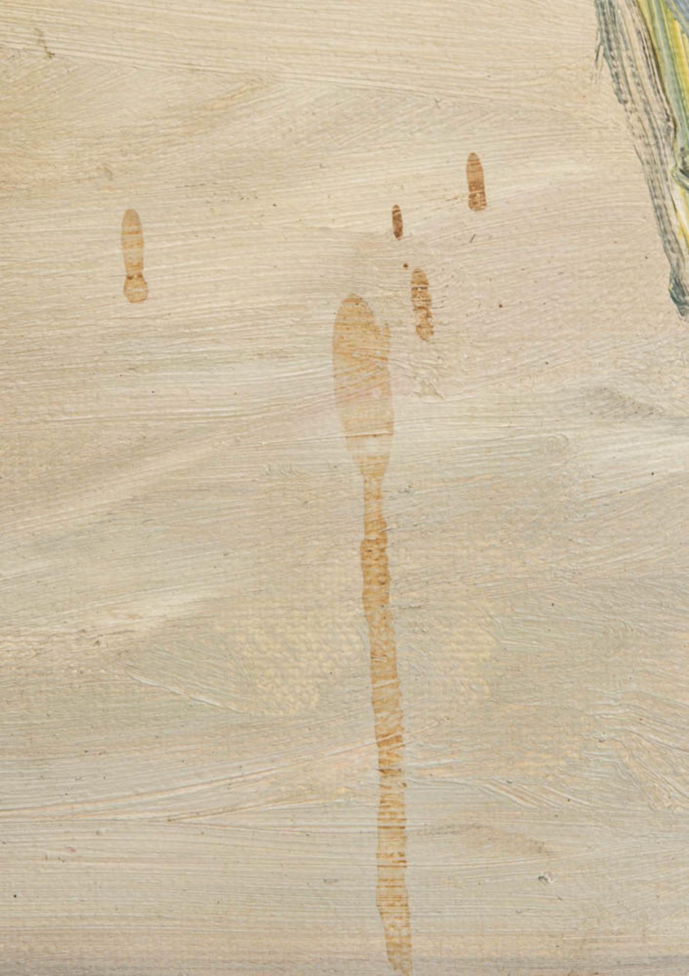 Paul Kapell, Segelboot, Öl auf Karton, 19./20. Jh.Landschaftsansicht, Segelboot im Wi - Bild 5 aus 6