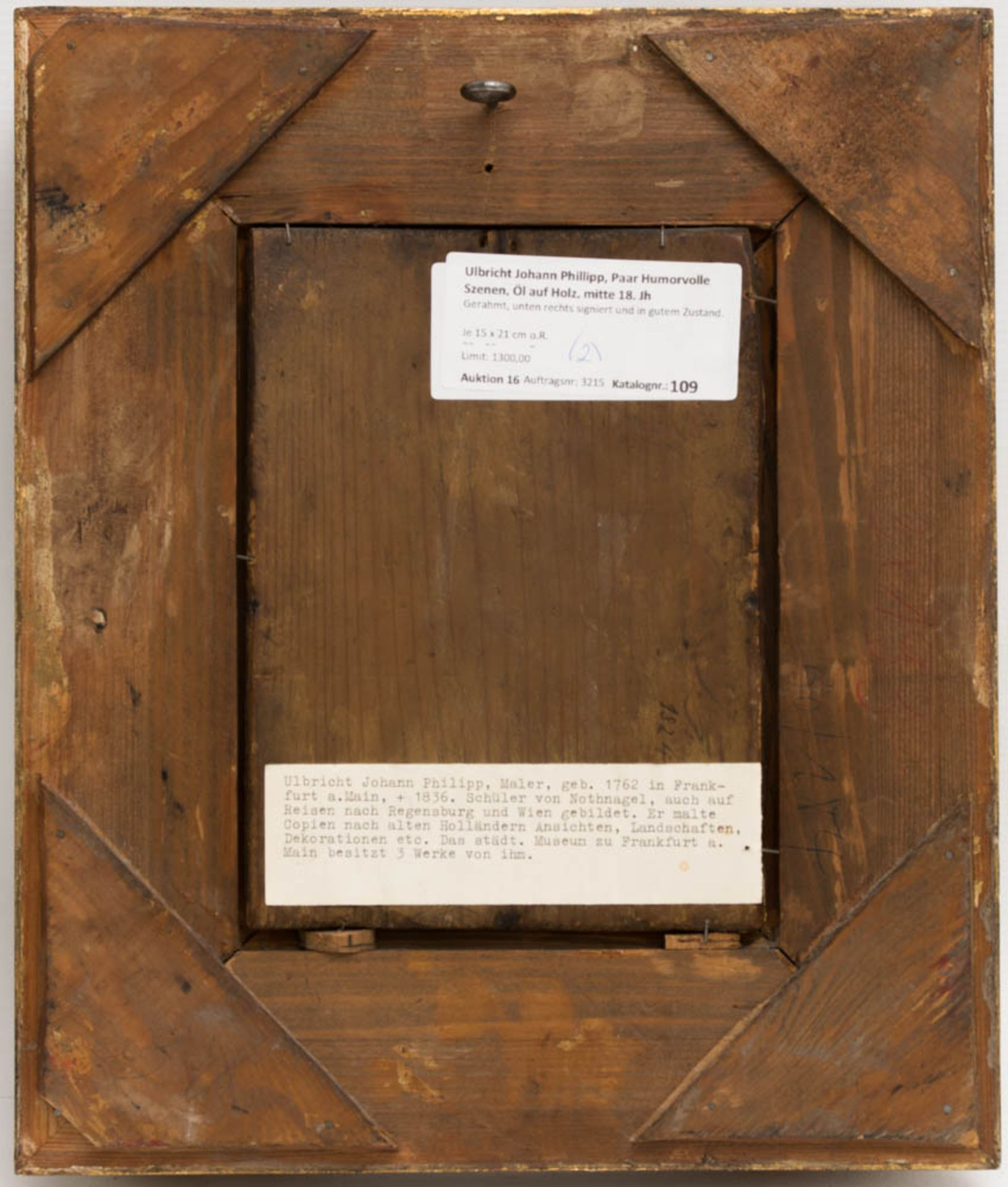 Johann Phillipp Ulbricht, Paar humorvolle Szenen, Öl auf Holz, Mitte 18. Jh. - Bild 8 aus 12
