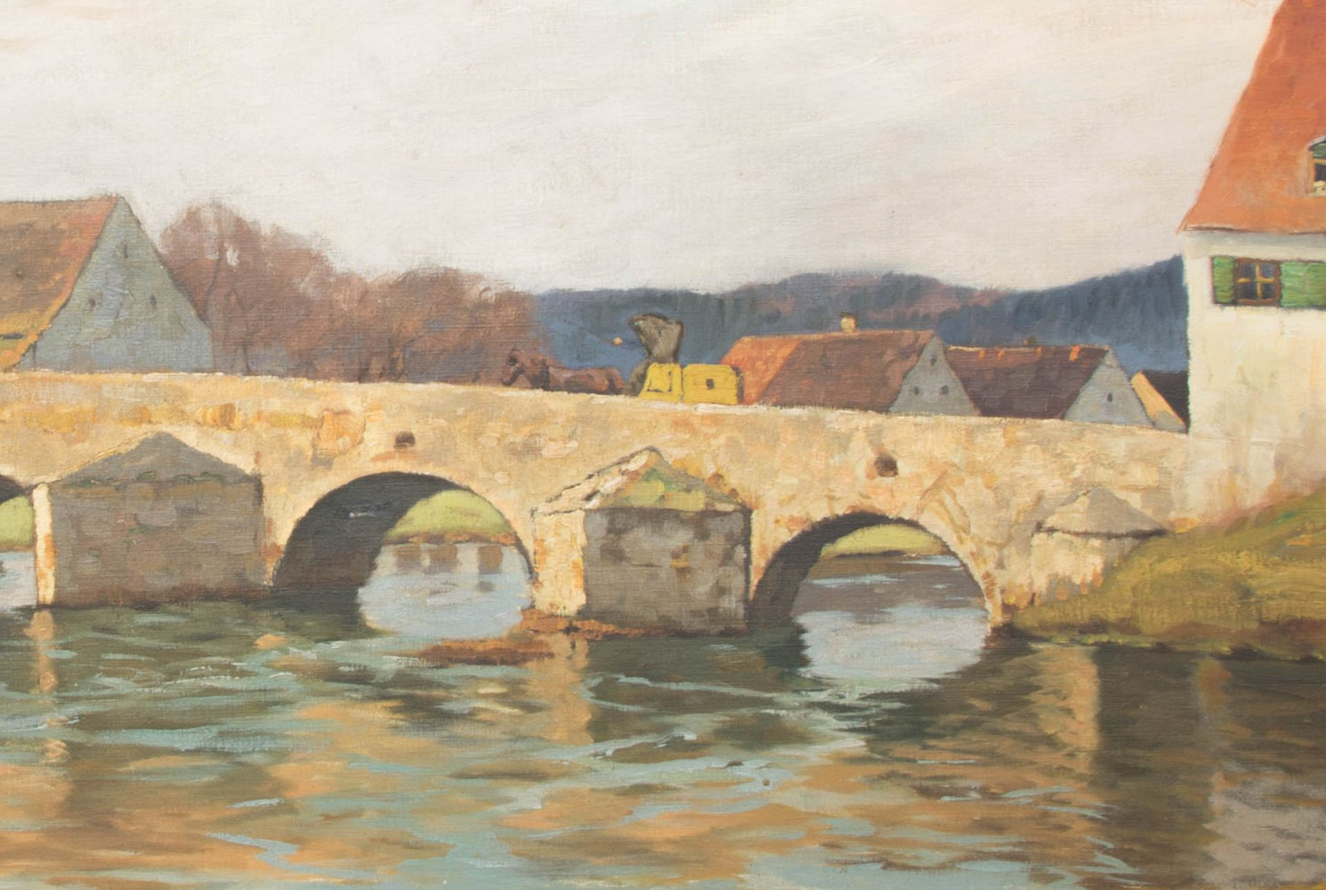 Franz Frankl, Die Brücke, Öl auf Leinwand, 20. Jh.Franz Frankl (1881 - 1940).Unt - Bild 2 aus 4