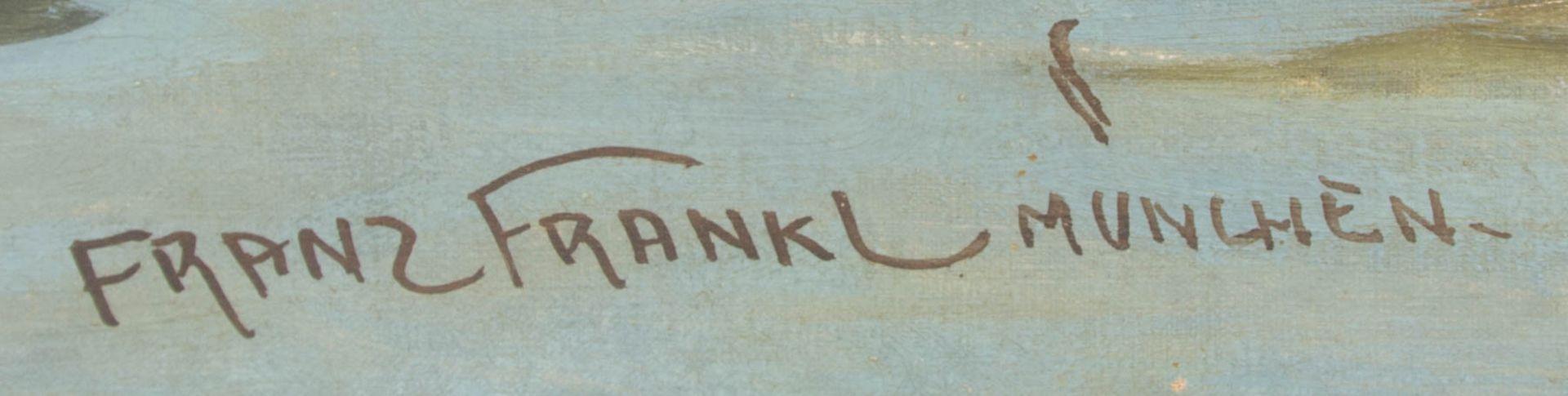 Franz Frankl, Die Brücke, Öl auf Leinwand, 20. Jh.Franz Frankl (1881 - 1940).Unt - Bild 3 aus 4