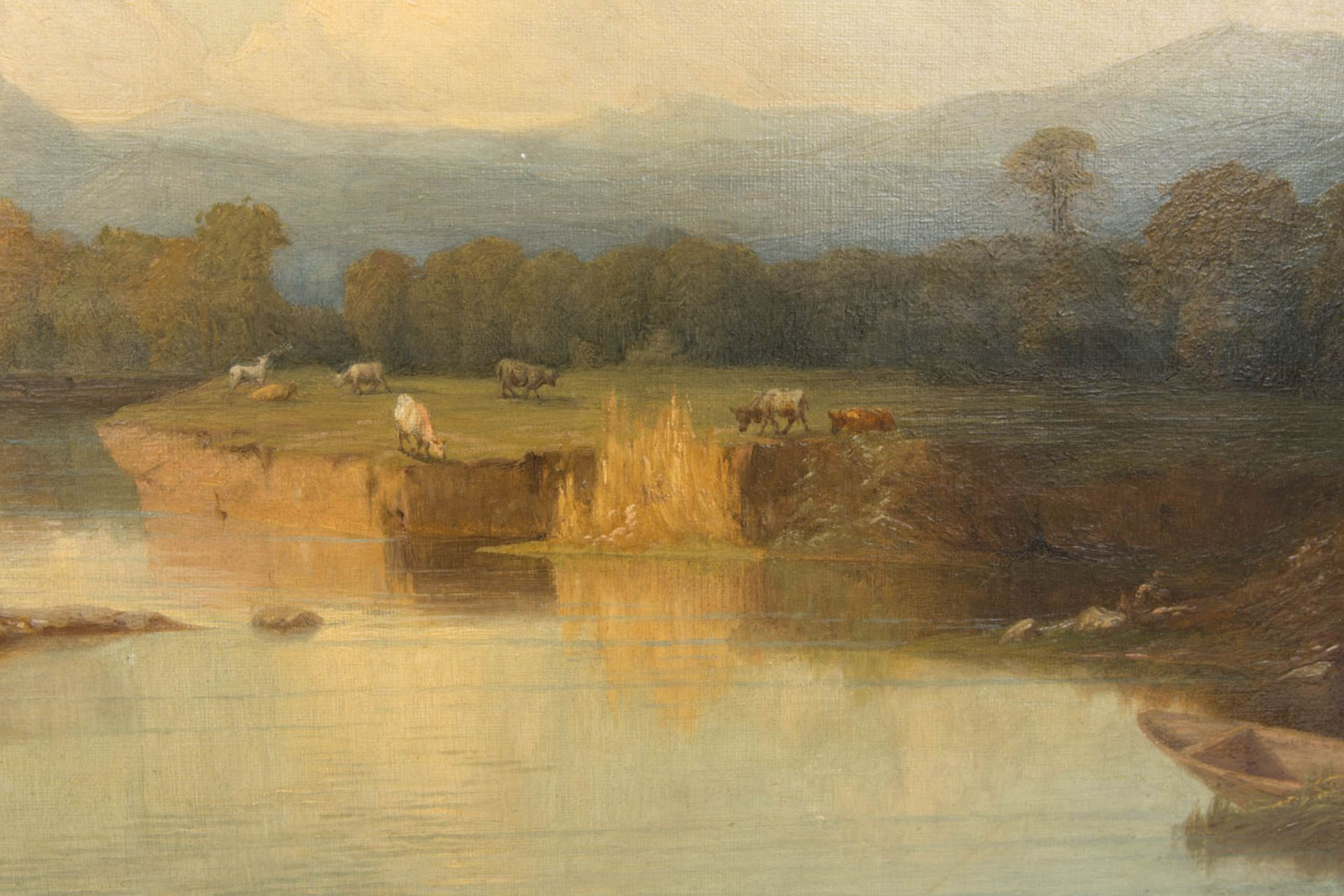 Monogrammiert J. C. Händler, Landschaftsansicht, Öl auf Leinwand, Frankfurt am Main, 1874. - Bild 2 aus 5