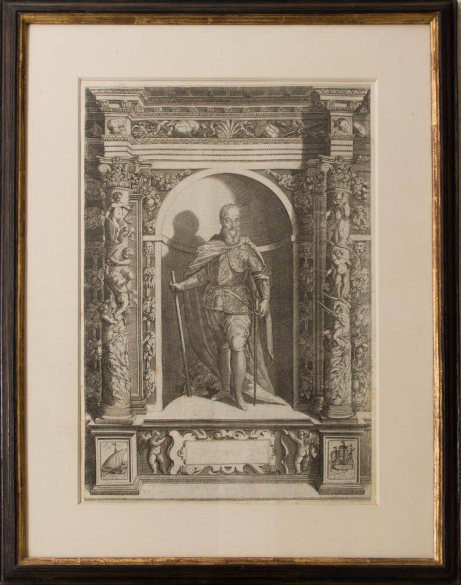 Vier Herrenportraits, Druckgrafik, 18. Jh.Teilweise rückseitig verglast und bedruckt. - Bild 3 aus 5