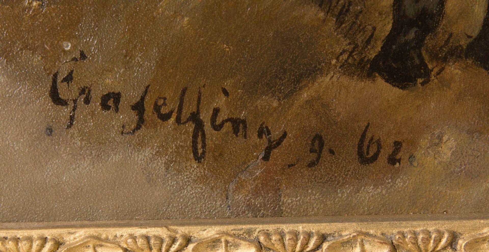 Wilhelm von Diez, Pferdestudie, Öl auf Platte, 19. Jh. - Bild 3 aus 5