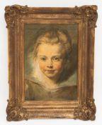 Nach Rubens, Kopf eines Kindes, Öldruck auf Leinwand, 20. JhObpacher Faksimile. <