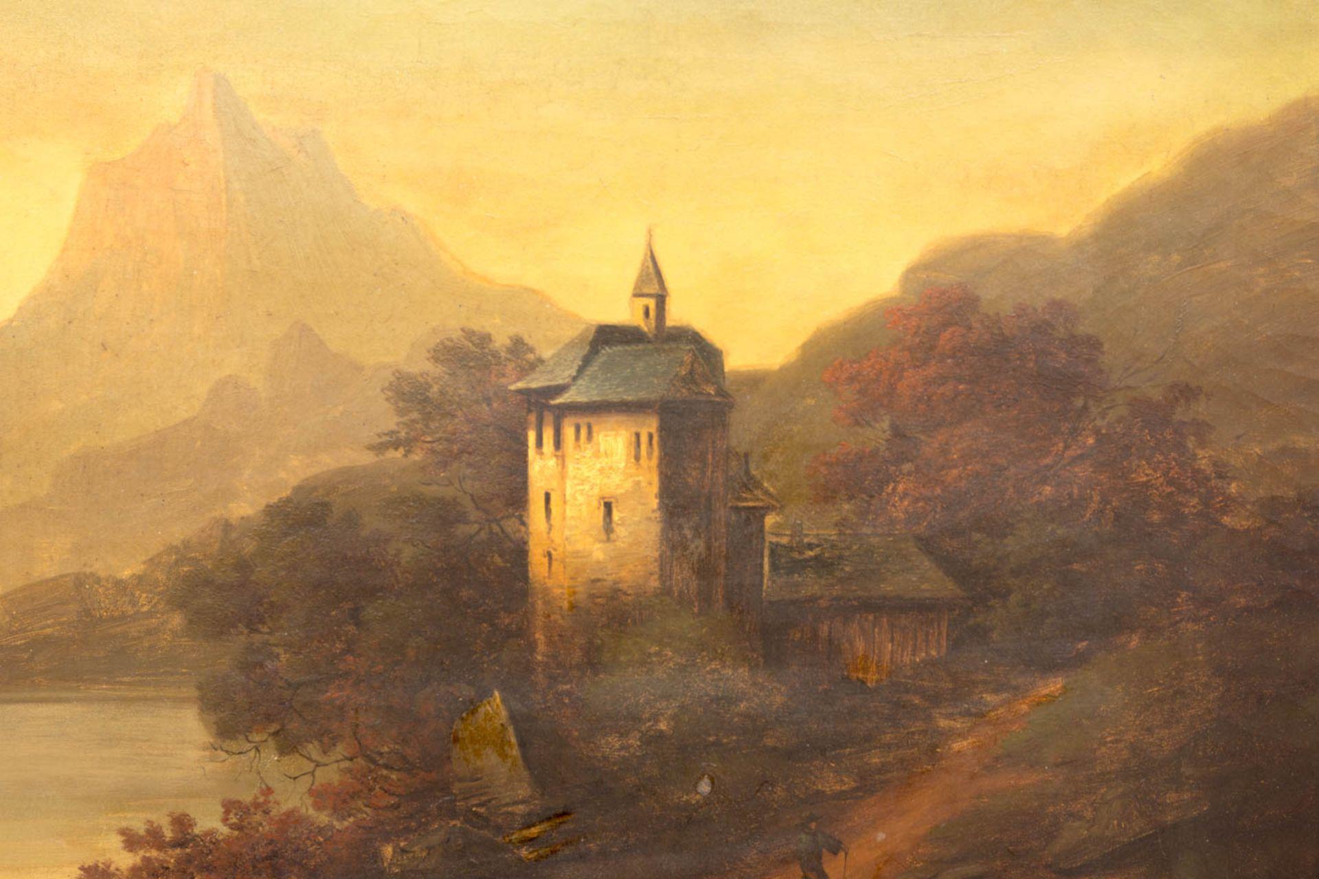 Conrad Wimmer, Landschaftsansicht mit Burg, Öl auf Leinwand, 19.Jh.Conrad Wimmer (184 - Bild 2 aus 6