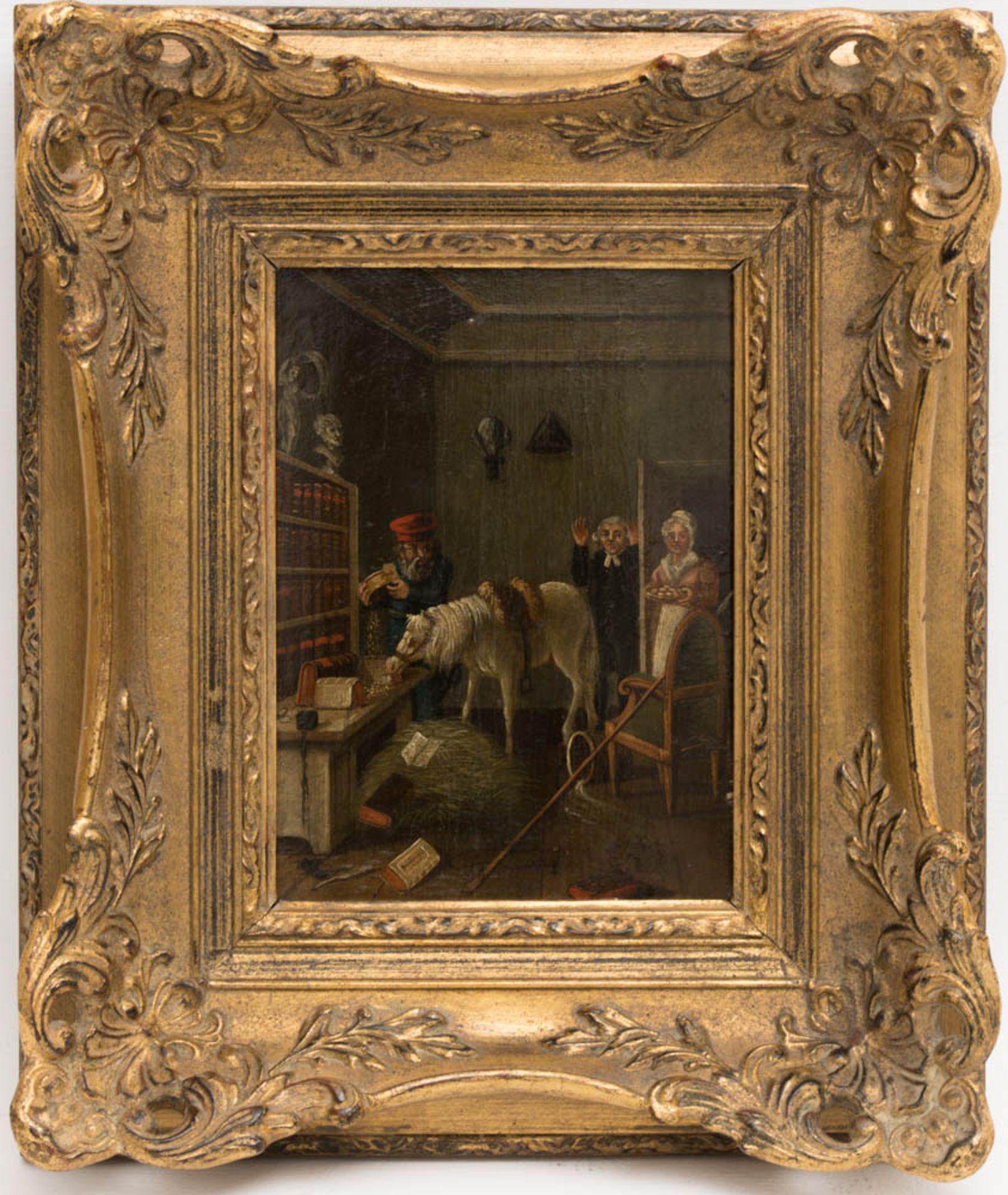 Johann Phillipp Ulbricht, Paar humorvolle Szenen, Öl auf Holz, Mitte 18. Jh. - Bild 10 aus 12