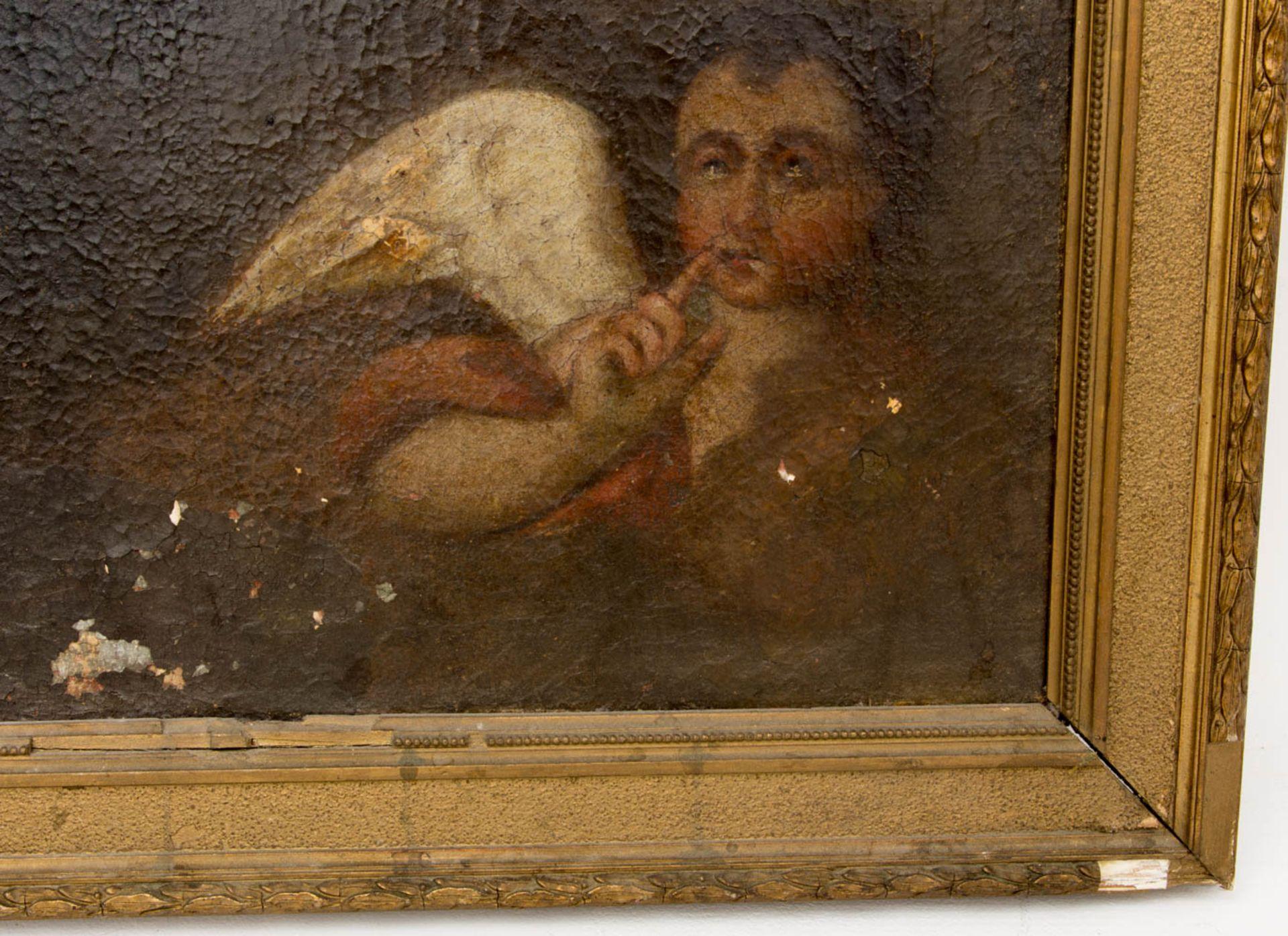 Matthäus der Evangelist, Öl auf Leinwand, 16. / 17. Jh.Dublierte Leinwand, Restaurat - Bild 4 aus 5