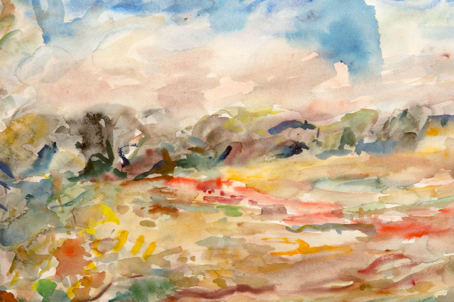 Manfred Henninger, Landschaftsansicht, Aquarell, 1944. - Bild 2 aus 4