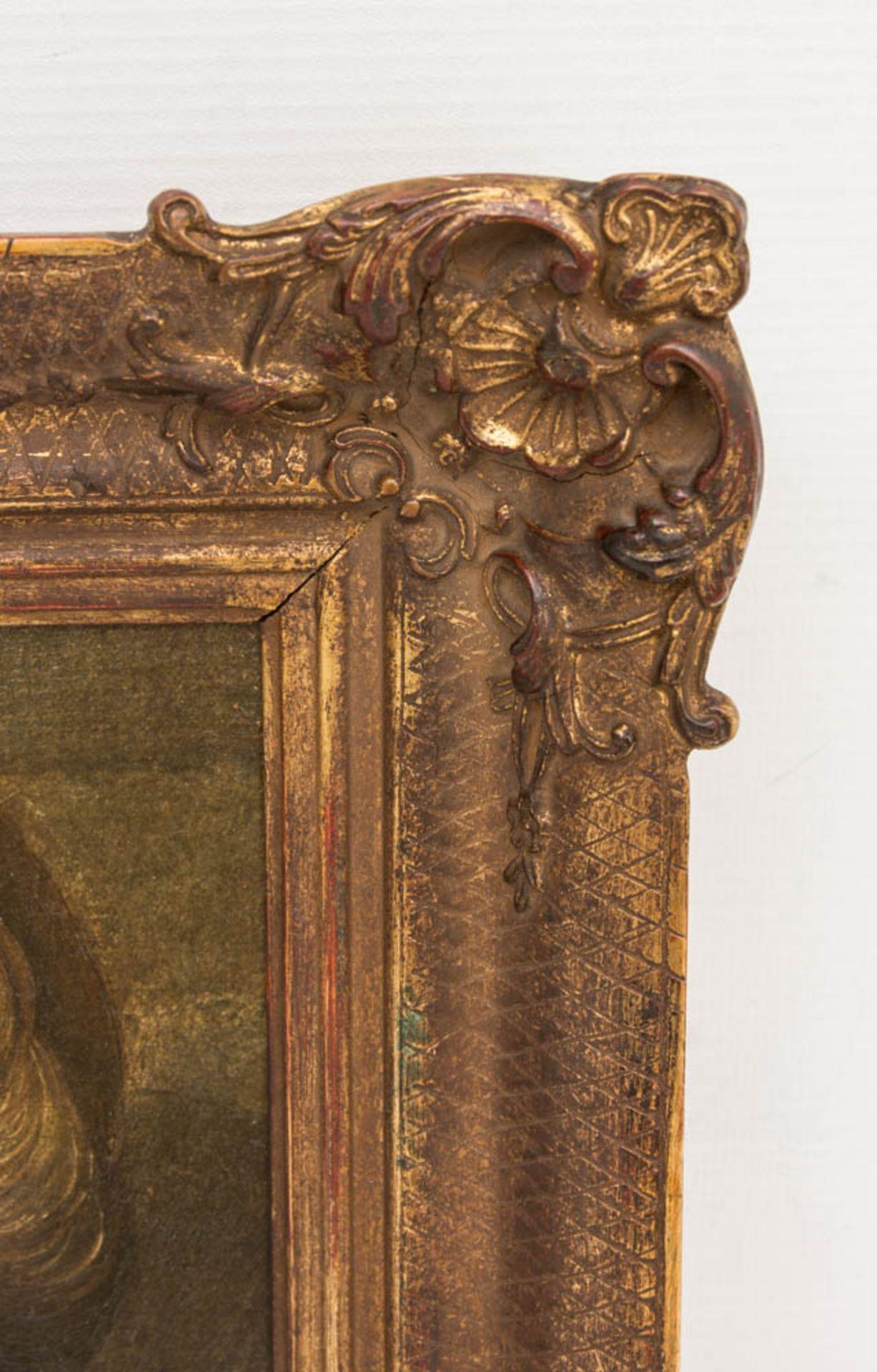 Nach Rubens, Kopf eines Kindes, Öldruck auf Leinwand, 20. JhObpacher Faksimile. < - Bild 3 aus 4