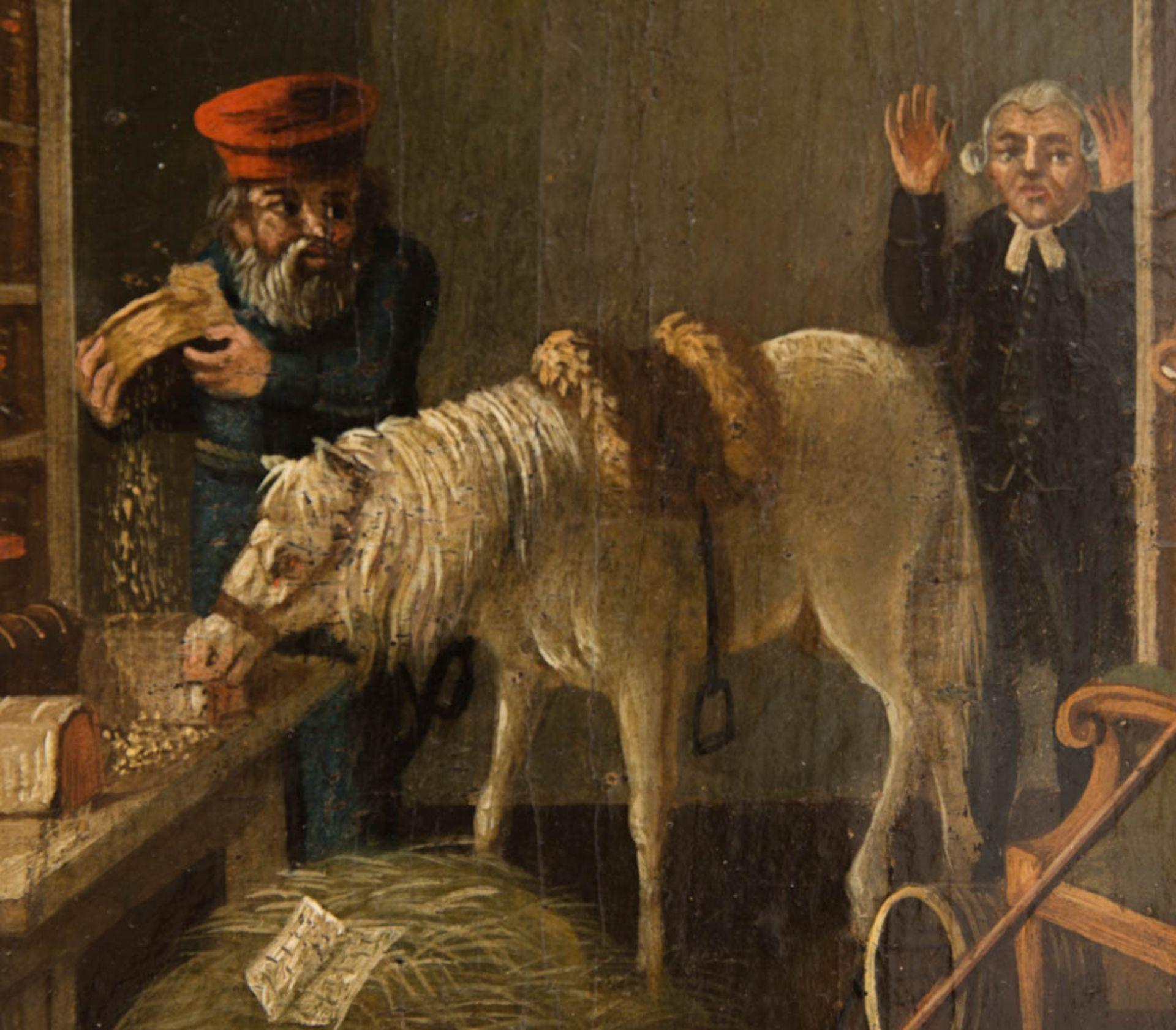 Johann Phillipp Ulbricht, Paar humorvolle Szenen, Öl auf Holz, Mitte 18. Jh. - Bild 11 aus 12