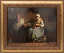 Sign. A. Kremer, Bäuerliche Küchenszene, Öl auf Leinwand, 19. Jh.Vermutlich hollän