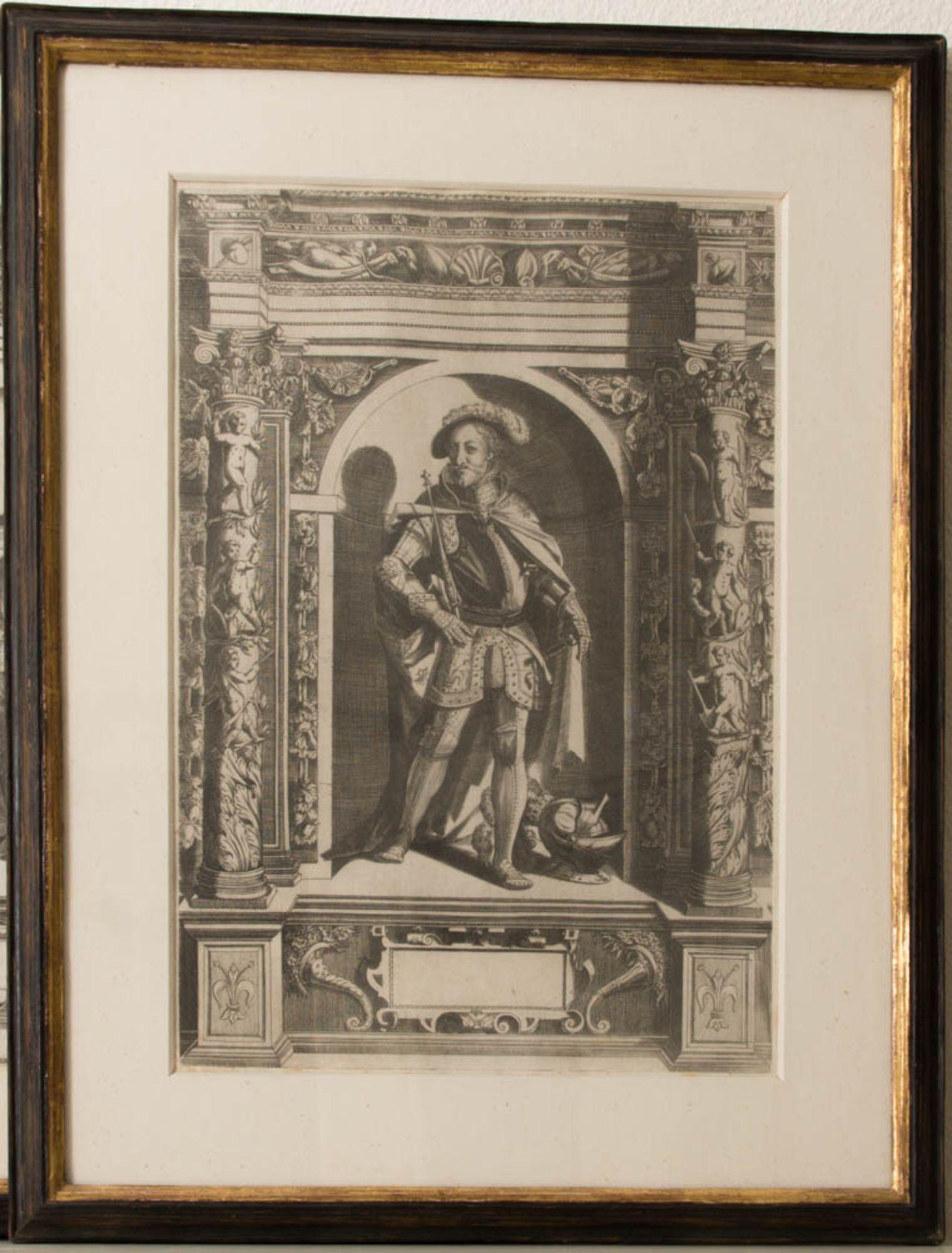 Vier Herrenportraits, Druckgrafik, 18. Jh.Teilweise rückseitig verglast und bedruckt. - Bild 2 aus 5