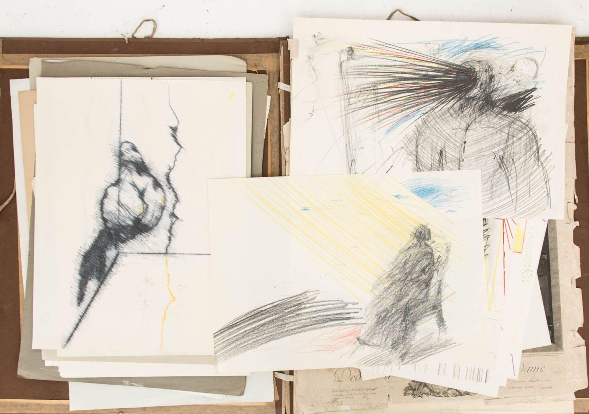 Franz Dreyer, Zwei Grafikmappen, Mischtechniken, Stuttgart 20. Jh.Zwei Mappen mit Akts - Bild 3 aus 3