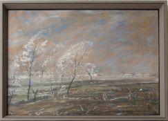Wohl Walter Bertelsmann,  Winterlandschaft, Acryl auf Platte, 20. Jh.