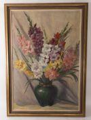 Sign. Bankert, Blumenstillleben, Öl auf Leinwand, 20. Jh.