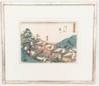 Ando Hiroshige I., wohl Station 37 Fujigawa, aus der Serie Tokaido, kolorierter Druck, Anfang 19. Jh