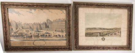 Konvolut von Stadtansichten der Stadt Wien, Kolorierte Drucke auf Papier.