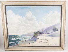Bruno Erbe, Dünen am Meer, Öl auf Leinwand, 20. Jh.