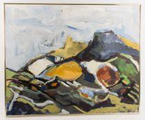 Renate Schreyer, Expressionistische Herbstlandschaft, Acryl auf Leinwand, 20. Jh.