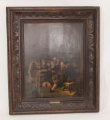 Attr. Egbert van Heemskerk, Ratsherrenrunde, Öl auf Holzplatte, 17. Jh.