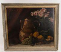 Signiert Siewert, Stillleben mit Krug und Blumen, Öl auf Platte, 20. Jh.